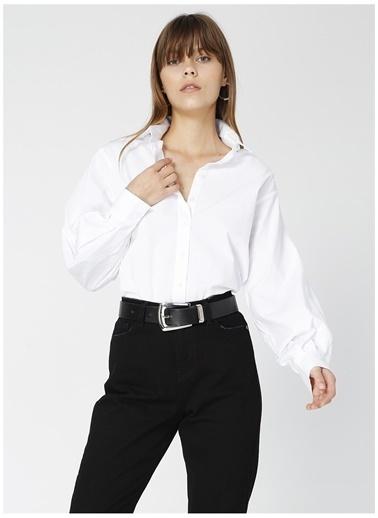 Fabrika Fabrika Satin Beyaz Kadın Gömlek Beyaz